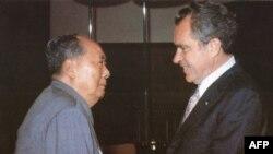 Chairman Mao Zedong meets President Richard Nixon