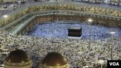 Las autoridades sauditas dijeron que este año hubo número récord de peregrinos a la Meca.