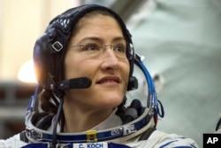 Američka astronautkinja Kristina Hamok Koh, članica ekspedicije na Međunarodnoj svemirskoj stanici, prisustvuje svom finalnom ispitu u Gagarin trening centru za kosmonaute u Zvezdanom gradu u blizini Moskve, Rusija, 20. februara 2019.