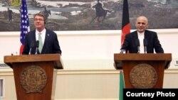 U.S. Secretary of Defense Ash Carter with Afghan President Ghani, July 12, 2016