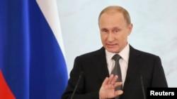 Russia သမၼတ Vladimir Putin ႏိုင္ငံကို မိန္႔ခြန္းေျပာ။