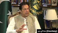 وزیر اعظم عمران خان ایک نجی ٹی وی کے ساتھ اںٹرویو میں۔