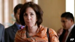 FILE - Roberta Jacobson, U.S. assistant secretary of state for Western Hemisphere affairs, will lead the U.S. delegation to Cuba.