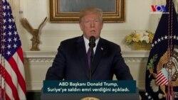 """ABD Başkanı Trump: """"Suriye'ye Saldırı Emri Verdim"""""""