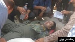 خلبان هواپیمای سوخو ۲۴ ارتش پس از سقوط هواپیما در استان فارس
