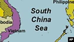 La carte de la Mer de Chine