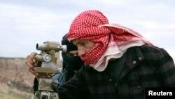 جیش الاسلام کا ایک جنگجو۔ فائل فوٹو