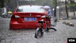 中國北京最近發生罕見洪災