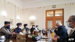 مذاکره هیئت طالبان با وزیر امور خارجه ایران در تهران - ۳۱ ژانویه ۲۰۲۱