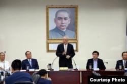 國民黨主席吳敦義10月18日在國民黨中央黨部(國民黨提供)