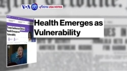VOA60 Elections - Bloomberg: Hillary Clinton's pneumonia diagnosis risks increasing the voters' mistrust in her
