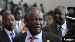 Zambia's President Michael Sata speaks to journalists at the 18th African Union (AU) summit in Ethiopia's capital Addis Ababa, (file photo).