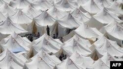 Лагерь сирийских беженцев на территории Турции