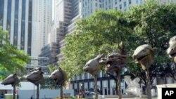 ງານຝີມືທເປັນທອງແດງຂອງ Weiwei ທໄດນຳໄປສະແດງໃນ New York