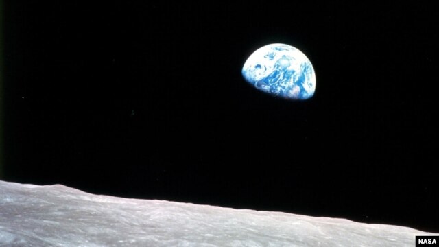 Earthrise it was seen from Apollo 8.