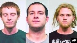 Chicago - OTAN - Los acusados fueron identificados (de izquierda a derecha) como Brian Church, Jared Chase y Brent Betterly.