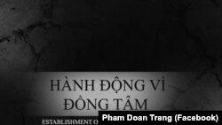 Nhóm Hành Động Vì Đồng Tâm (nguồn Phạm Thị Đoan Trang-Facebook)