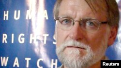 Bill Frelick, Human Rights Watch Refugee program director, September 2012. (VOA - R. Corben)