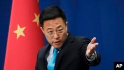 چین کی وزارت خارجہ کے ترجمان ژاو لی جیان