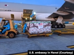 Mỹ chuyển vắc-xin Moderna đến Việt Nam hồi tháng 7.