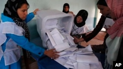 حدود هفت میلیون نفر در انتخابات افغانستان رای داد.
