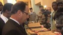 法國總統奧朗德抵達馬里訪問