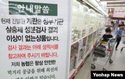 20일 서울 대형마트에서 살충제 성분검사 결과 이상없는 계란이 판매되고 있다.