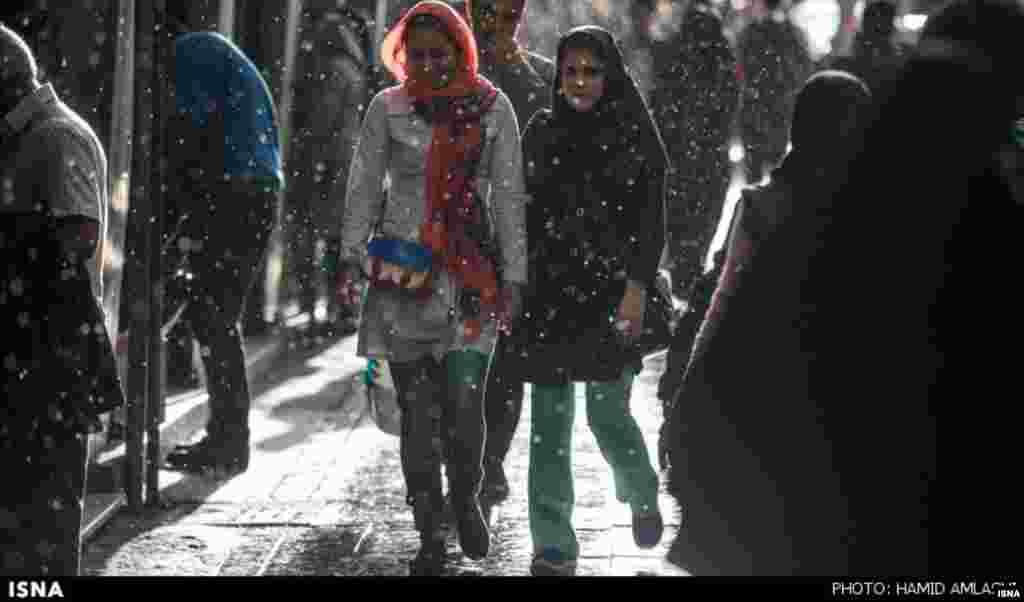 یک روز بارانی معمولی، تهران. عکس: حمید املشی، ایسنا