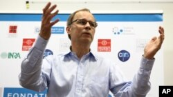 Jean Tirole of France won the 2014 Noble Prize in economics for his work on regulating markets influence by only a few big companies. (AP Photo/Fred Scheiber)