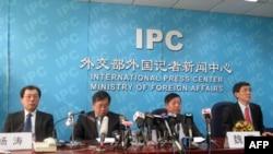 中国外交部官员向媒体通报情况