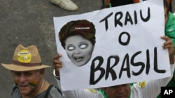 Las protestas en Brasil acusan a la presidenta Dilma Rousseff de tracionar al país