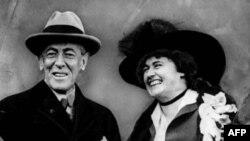 Президент США Вудро Вильсон с супругой Эдит Боллинг-Вильсон (архивное фото)
