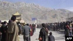 Prizor sa demonstracija u kineskom Tibetu