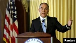 美国环保署长斯科特·普鲁特(Scott Pruitt)对环保署人员发表讲话 (2017年2月21日)