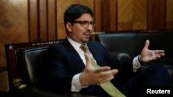 Freddy Guevara, primer vicepresidente de la Asamblea Nacional de Venezuela, impulsa pedido de informe al Congreso de EE.UU. sobre el vicepresidente venezolano, Tareck El Aisami.
