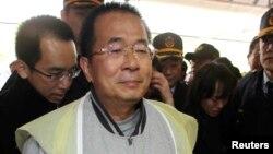 Mantan Presiden Taiwan Chen Shui-bian yang dipenjarakan telah berupaya melakukan bunuh diri (foto: dok).