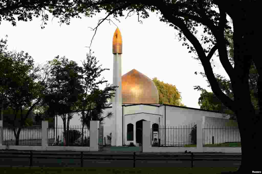 新西兰努尔清真寺外景。(2014年)