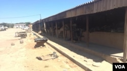 A deserted market in Zimbabwe's Masvingo town as locals heed a call to stay at home amid fears of the coronavirus COVID-19 that has killed thousands of people in many nations.