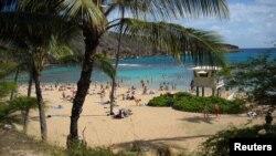 Bãi biển ở Hawaii