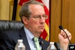 FILE - House Judiciary Committee Chairman Rep. Bob Goodlatte, R-Va., listens to testimony on Capitol Hill in Washington, Jan. 2, 2017.
