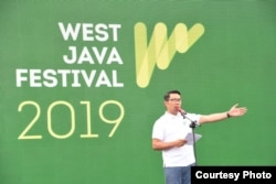 Gubernur Jabar Ridwan Kamil membuka WJF di depan Gedung Sate, Bandung, Sabtu (2/11/2019) pagi. (Courtesy: Humas Pemprov Jabar)