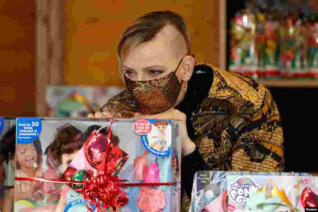 Monako şahzadəsi Şarlin ənənəvi Milad bayramında iştirak edir