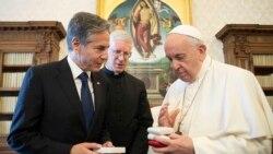 美國國務卿與教宗會面 並與盟國討論擊敗伊斯蘭國對策