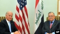 امریکی نائب صدر جوبائیڈن اور عراق کے صدر جلال طالبانی
