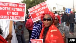 Des Sénégalais manifestent pour des élections libres et transparentes, le 9 février 2018 à Dakar