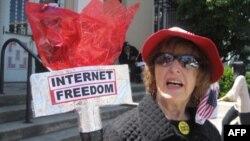 Prizor sa nedavnih demonstracija na univerzitetu Stanford u prilog slobode na internetu
