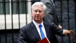 Britain's Minister of Defense Michael Fallon
