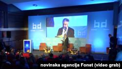 """Panel """"Vojno-politički aspekti evropske bezbednosti"""", (Foto: video grab)"""