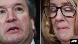 Christine Blasey Ford (phải) cáo buộc ứng cử viên Tối cao Pháp viện Hoa Kỳ Brett Kavanaugh tấn công tình dục bà tại một bữa tiệc cách đây 36 năm. Một nhân chứng trong bữa tiệc đó đã được FBI tiếp cận và nói chuyện.