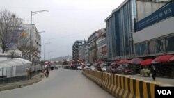 د کابل ښار یوه څنډه د قرنطین پر وخت